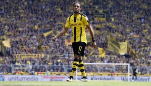 DORTMUND, BERLIN - MAY 14:  Pierre-Emerick Aubameyang of Dortmund looks on during the Bundesliga match between Borussia Dortmund and 1. FC Koeln at Signal Iduna Park on May 14, 2016 in Dortmund, Germany.  (Photo by Boris Streubel/Bundesliga/DFL via Getty Images )
