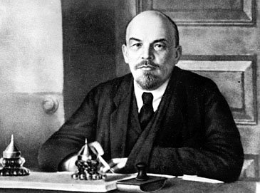 Russian revolutionary leader Vladimir Ilich Lenin is shown in 1918 at an unknown location.  Lenin, in 1918, split with the Left Social Revolutionaries and renamed the Bolsheviks the Russian Communist Party.  (AP Photo)