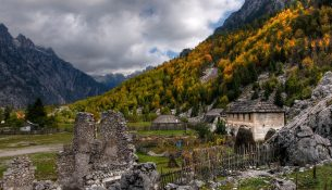 Farm in Valbona valley in Albania