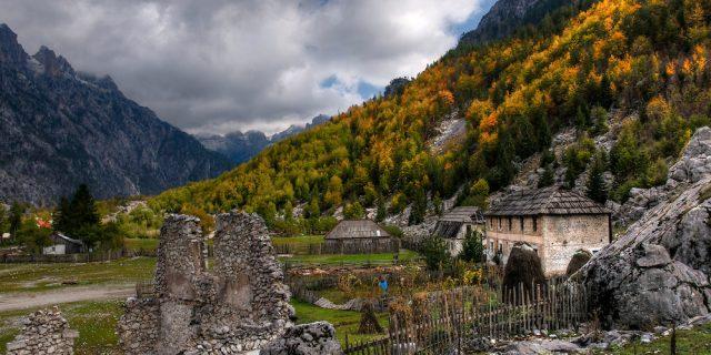 Farm in Valbona valley in Albania