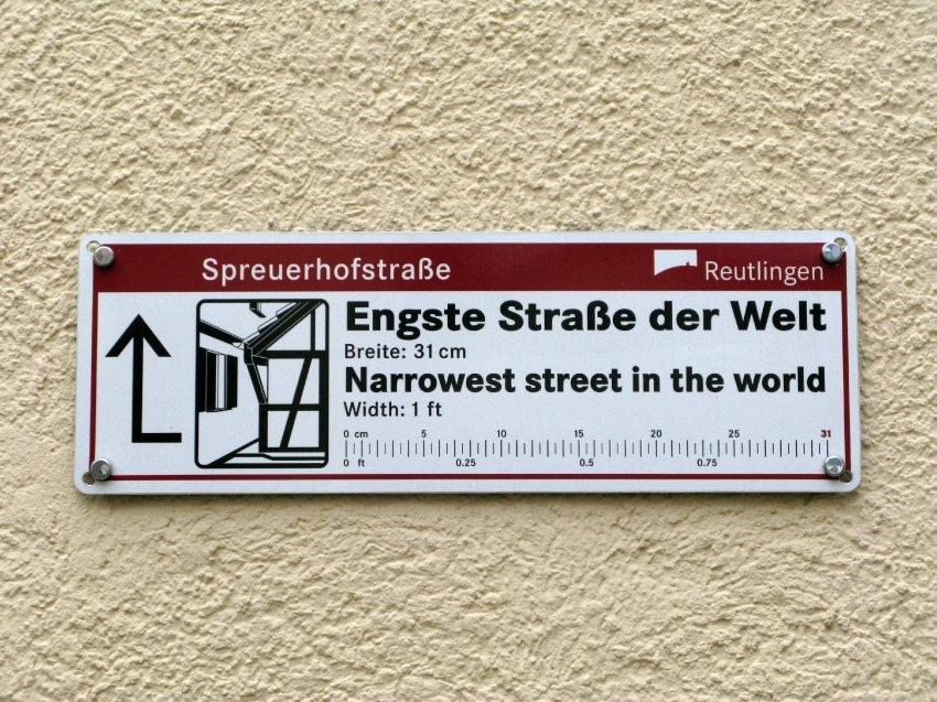 Reutlingen/ Engste Straße der Welt, Spreuerhofstraße
